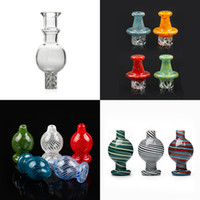 New Spinning Directional Carb Cap Glass bubble Carb Cap about 26.5mm OD with air hole For 25mm Quartz Banger dab oil rigs