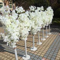 Новое поступление вишневых цветов Древерие дорожные ведущие ведущие свадебный бегун проход в колонне Торговые центры открытые двери украшения