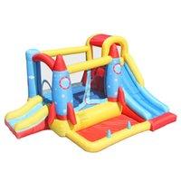 Suprimento de jardim Secrete Seco Bouncer com slides Pool Playhouse para crianças Interiores Jogando Outdoor Play Casa Jumping Castle w / Ball Pop
