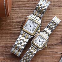 2021 Новая Мода Высокое Качество Леди Повседневная Золотая Кварц Движение Часы Женщина Повседневная 37 мм 30 мм Квадратные Montres Женские Оролосы Подарочная Reloj