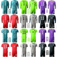 Portero Juventud David de Gea España Percero largo Soccer Jersey Set Kids Kepa Arrizabalaga Iker Casillas Simon Reina Football Shirts Kits