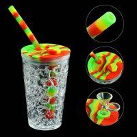Copa do congelador da tubulação da água 6.1 '' Cachimbo de água bongos do silicone das plataformas dos bongos do fumo para a erva seca