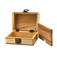 쿠노츠 나무 숨기기 케이스 상자 크기 63 * 87 * 121mm 큰 볼륨 원유 나무 담배 허브 상자 흡연 액세서리