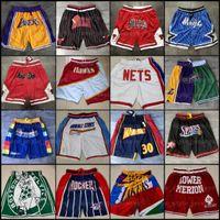 2021 Nuevo Mitchell Ness Don Impreso Pantalones cortos de bolsillo de baloncesto Auténtico Pantalones Supersonic Retro bolsillo Shorts Sweetpants Czzz