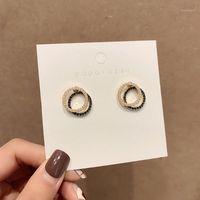 2020 New prata pin korea geométrica quadrado redondo simples imitação de pérola brincos para mulheres menina moda acessórios de jóias1