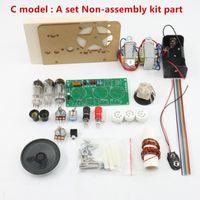 Rádio 1 pçs / lote Cinco banda de onda Três lâmpada tubo shortwave kit com base 1
