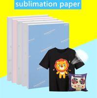 Papel de sublimação de tamanho A4 100 folhas de papel de transferência de calor para qualquer impressora jato de tinta que combine a tinta de sublimação