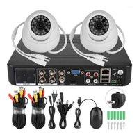 2CH Caméra de sécurité 1080P 2CH Coaxial AHD Surveillance Vidéo Security Kit de la caméra 200w Smart System1