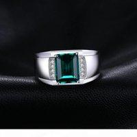 BijouxRyPalace Hommes Luxury 2.7CT Créé Emerald Anniversary Anneau de mariage Véritable 925 Sterling Sliver 2018 New Ring J 190430