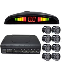 LED 주차 센서 자동차 오토 파크 트로닉스 8 센서 역방향 백업 자동차 주차 레이더 모니터 탐지기 시스템 백라이트 디스플레이