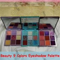 Rose lilla menta pastelli 9 colori ombretto shimmer matte glitter metallico pigmentato portatile 9 colori pastelli occhi trucco tavolozza cosmetica