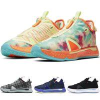 جديد أوريو بول GX Gatorade PG 4 IV أحذية رجالي كرة السلة أسود أبيض مدربين جورج الرجال الرياضة رياضة CD5086-700 CD5086-500