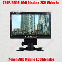 "7-INCH 720P 1MP 960P 1.3MP HD AHD Mobile Monitor 7 ""Display LCD 2CH A / V Vídeo Video Vista traseira para Veículo de Vigilância CCTV Mount1"