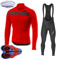 Erkekler Mavic Takım Bisiklet Jersey Takım Kış Termal Polar Uzun Kollu Bisiklet Kıyafetler Isıtıcı Açık Spor Yol Bisiklet Üniforma Y20110601