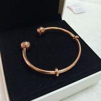 S925 Sterling Silber Krone Perlen Offene Armbänder Fit Pandora Charm Armreif Armband Schmuck Für Frauen