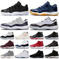 2021 Jubilee 25th Yıldönümü 11s Basketbol Ayakkabıları 4 S Kara Kedi 5 Ateş Kırmızı Gümüş Dil 11 Uzay Reçel Düşük Beyaz Bred Sneaker Trainer