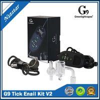 G9 GreenLightVapes Tick ENAIL Kit V2 Bobina Aquecedor de cera Caneta Dab Prego Vaporizador E Dab Prego Kit Melhor Portátil Dabber