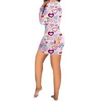 Kadın Tulum Tasarımcı Eşofman Seksi Düğme Geri Flap Pijama V Boyun Tek Parça Pantolon Set Bodycon Onesies Sevgililer Günü Giyim G12002