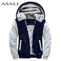 Асали бомбардировщик куртка мужчины новый бренд зима толщиной теплый флис молнией пальто для мужской спортивной одежды спортивный спортивный костюм мужской европейский толстовки LJ200918