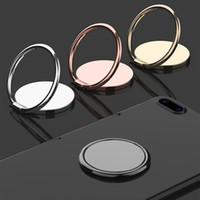 Suporte de anel de aperto de telefone de metal de metal de luxo Universal 360 graus de rotação de dedo suporte de soquete magnético suporte de suporte de carro magnético