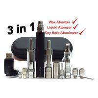 Ego 3in1 Buharlaştırıcı Marş Seti Kalın Yağ Vape Kuru Herb Atomizer Balmumu Kalem MT3 Clearomizer 3 1 Akü Buharlaştırıcılar Kalemler