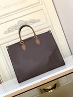 M45320 OnThego GM Tote Bag Top Quality Lady Bolsa Bolsa de hombro Sacs Femme Crossbody Tote Bolso de mujer con Toron Top Handles M44925