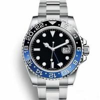 로즈 골드 패션 망 기계식 자동 무브먼트 레이디 GMT 남성 여성 망 디자이너 GMT 시계 손목 시계 시계 남자 몽트레