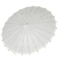 Papier Craft chinois Mini parasols Blanc Parapluie Diamètre 20/30/40 / 60cm Parapluies de mariage pour gros