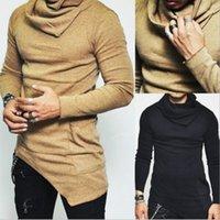Sweaters à tête à creuseries de CocedDB Homme Design irrégulier Top Sweater masculin Couleur Solide Couleur Pull Pull Pull Sweaters pour Mens 201105