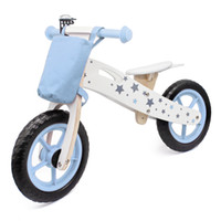 Kids Ride on Wooden Balance Bike Four- wheeled Star Model wit...