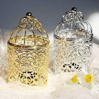 Plating Candlestick Gold Color Color Cage Cage Phage Holders Hotels Home Furnithing Свадебные Оформление Оформление Подсвечники Crease Creative 11 8DH L1