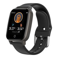 1.3 inch Smart Watch Wristband Body temperature monitoring thermometer information push fitness tracker heart rate Smart Bracelet