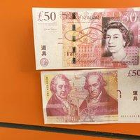 100pcs / pack Banconota realistica / Euro / Dollar Family Pront Gioco US Most Toy217 Copia o denaro Bambini Bambini Kifef