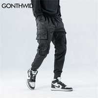 Gorthwid Side Zipper Tasche Cargo Harem Joggers Uomo Hip Hop Casual Casual Harajuku Streetwear Pantaloni sportivi Pantaloni maschili Pantaloni maschili Y201123