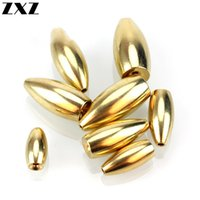 100 stücke Angeln Wolfram Sinker 3,5g / 5g / 7g / 14g / 17g Kugel Formgewinde Gold Kupfer Messing Gewicht Tackle Sink Lure Zubehör