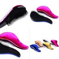Portable coiffure peigne multicolore mignons miteux miteux peignes de cheveux secs à cheveux secs de cheveux bons poils styleux outil 4 5bk E2