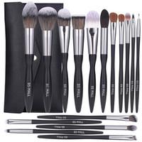 BS-Mall Makeup Brush Set 16 Pennelli per il trucco Pennelli avanzati Setola sintetica Foundation Blush Contour Concealer Lip Eye Shadow Brush Set