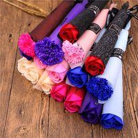 قرنفل الورود الصابون الزهور الإبداعية رومانسية الزفاف تفضل روز الصابون زهرة ل هدية عيد الحب هدايا عيد الامدادات الاحتفالية