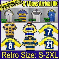 Parma Calcio 1913 Retro 1995 1996 1998 1999 2000 2002 2003 Palma Futebol Jersey 95 96 97 98 99 01 02 03 Kits de camisa de futebol vintage Stoichkov
