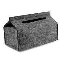 صناديق الأنسجة المناديل مربع تخزين ورقة بسيطة شعرت منشفة سيارة الصلبة المنزلية مكتب صينية حالة الصوف مربع أزياء الضخ