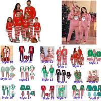 Xmas Kids Boy Girls Adulto Famiglia Adulto Abbinamento NATALE Cervi natalizie Pigiama Sleepwear Dadictini da notte Pigiama Pigiama Parent-Child Pigiama Partito HH9-3304