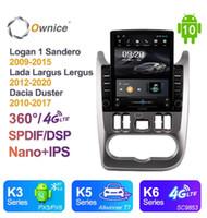 Audio de voiture Android 10,0 OCTA 8 CORE Radio pour Logan 1 Sandero 2009-2021 GPS multimédia stéréo playertesla style 4G LTE