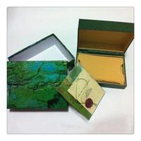 New Style Brand Green Watch Relojes de madera originales Relojes de regalo Cajas Bolsa de cuero Tarjeta para Rolex BAJA ROLEX BAJA HH01