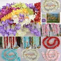 Giftssml52m Yapay Wisteria Ortanca Çiçek Rattan Ipek Vines Düğün Parti Centerpieces Süslemeleri için Ev Süs FV03
