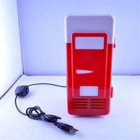 USB Powered Linda Caja de hielo Calentador Mini nevera para interior interior Práctico refrigerador 3 colores sólidos Caja de color Embalaje 58WX E1
