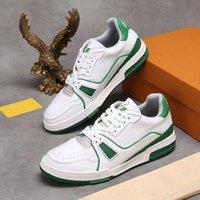 Erkek Tasarımcı Ayakkabı Trail Dalfskin Sneaker Kauçuk Taş Tuval Deri Mans Luxurys Tasarımcılar Sneakers Eğitmen Runner Eski Çiçek Dantel-Up Ayakkabı