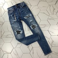 IMEN's Distressed Skinny Jeans Skinny Fashion Mens Jeans Slim Moto Moto Moto Biker Causal Mens Denim Pants Hip Hop Jeans Jeans