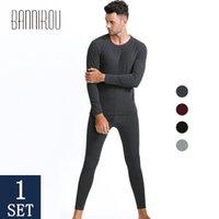 Kış termal iç çamaşırı erkekler için setleri termo iç çamaşırı uzun Johns kış giysileri erkekler kalın termal giyim katı 2019 Bannirou T200113