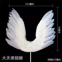 Крыло ангельские точки топперы украшают модные перья романтический эстетизм карты вставка свадьба десертные таблицы статей 1 8sn p1