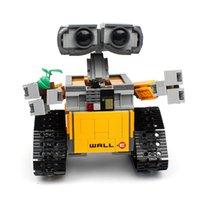 В наличии 16003 687PCS Создатель Идеи Серия Робот Здание Здание Строительные Блоки Кирпичи Игрушки Освещенные 21303